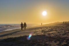 Sunset seascape of famous Montegordo beach, Algarve. Portugal Stock Images