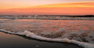 Sunset Seascape golden hour beach stock image