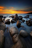 The Sunset Seascape in Thailand. Stock Images