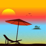Sunset on the seashore Royalty Free Stock Photography