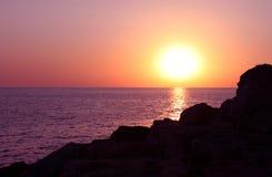 Sunset at seaside. Picturesque sunset at seaside near Sevastopol, Ukraine Stock Images