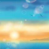 Sunset Seaside Background Royalty Free Stock Photography