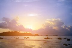 Sunset at the seaside background. Royalty Free Stock Images