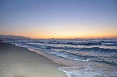 Sunset at the seaside 2. Sunset at the seaside in Crete, Greece Stock Photo