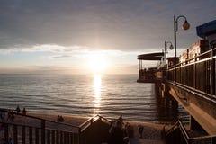 Sunset at seaside - Miedzyzdroje Poland Royalty Free Stock Photo
