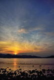 Sunset of seaside in Namhae Royalty Free Stock Images