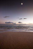 Sunset at secluded beach Royalty Free Stock Photos