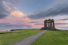 Sunset at Second World War Memorial near Stonehaven on the Scott Royalty Free Stock Images