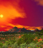 Sunset Sedona Arizona Stock Photo