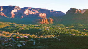 Sunset in Sedona stock video footage