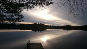 Sunset See stockbild