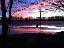 Sunset See Stockfoto