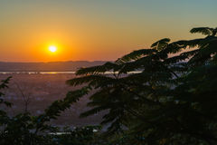 Sunset seen from Mandalay Hill Royalty Free Stock Images