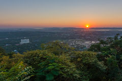 Sunset seen from Mandalay Hill Royalty Free Stock Photos