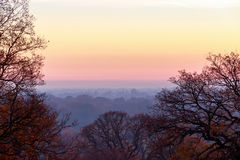 Sunset seen from Richmond Park Royalty Free Stock Image