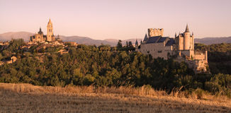 Sunset in Segovia. Sunset during summer in Segovia, Spain. Canon 450d Royalty Free Stock Image