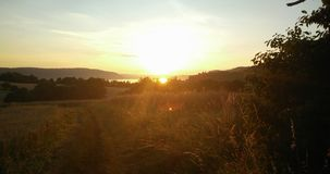 Sunset. Selfmade this the Bodensee stock images
