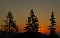Sunset in Semmering, Austria stock image