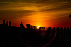 Sunset. Senset is buatifull in Vilnius Lithuania Stock Image