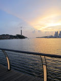 Sunset at Sentosa Stock Images
