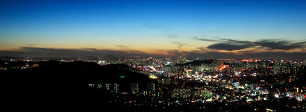 Sunset, Seoul Stock Image