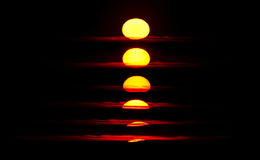 Sunset sequence Royalty Free Stock Photo