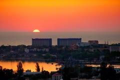 Sunset in Sevastopol Stock Photography