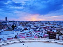 Sunset in Seville, Spain Royalty Free Stock Image