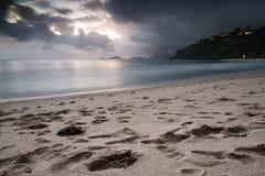 Sunset at Seychelles Stock Photos
