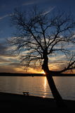 Sunset shade. Taken at Weatherford Lake, East of Weatherford. 19 miles from downtown Fort Worth. Surface area is approx 1,158 acres, Maximum depth is 39 feet Royalty Free Stock Photos