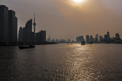 Sunset in Shanghai Royalty Free Stock Image