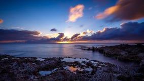 Sunset at Shark's Cove Beach Stock Photography