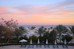 Sunset in Sharm el-Sheikh Royalty Free Stock Photography