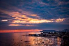 Shell Beach Sunset Stock Photography