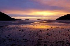 Sunset on Shelly beach Stock Image