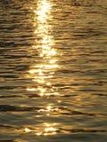 Sunset Shimmer. Sun shimmering over the water Stock Image
