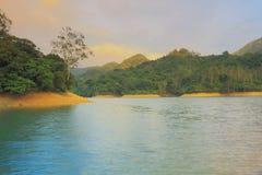 Sunset of  Shing Mun Reservoir Stock Images
