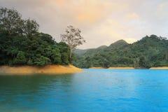 The sunset of  Shing Mun Reservoir Royalty Free Stock Image