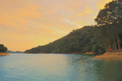The sunset of  Shing Mun Reservoir Royalty Free Stock Images
