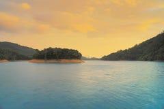 The sunset of  Shing Mun Reservoir Stock Image