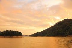 The sunset of  Shing Mun Reservoir Royalty Free Stock Photos