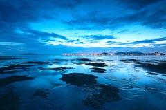 Sunset shingle coast Stock Image