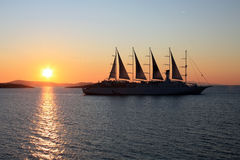 Sunset Ship Royalty Free Stock Images