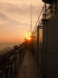 Sunset from the ship. Beautiful sunset view from the ship Royalty Free Stock Photography