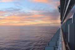 Sunset from ship Stock Image