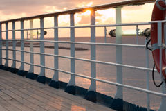 Sunset on the ship Royalty Free Stock Photography