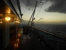 Sunset on ship after storm Stock Photos
