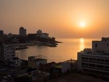 Sunset at Shirahama beach resort Stock Images