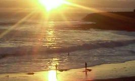 Sunset shore santa cruz royalty free stock photos