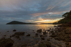 Sunset on the shore of  tropical Koh Chang Island. Thailand. Stock Photography
